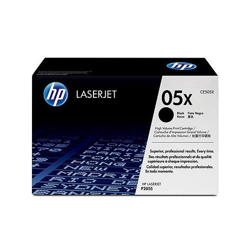 Toner imprimante HP LaserJet 50X (CE505XD) Lot de 2 Toners Noir (6 500 pages à 5%)
