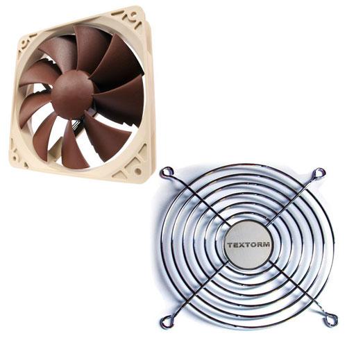 Ventilateur boîtier Noctua NF-P12 PWM + Grille de ventilateur 120mm Ventilateur de boîtier 120 mm + Grille de ventilateur 120mm