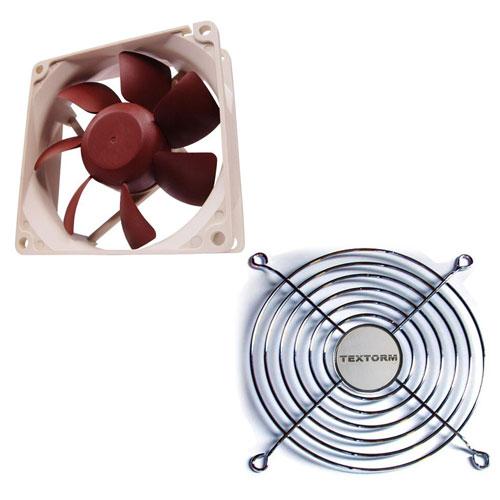 Ventilateur boîtier Noctua NF-F12 PWM + Grille de ventilateur 120mm Ventilateur de boîtier 120 mm + Grille de ventilateur 120mm
