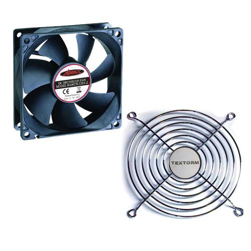 Ventilateur boîtier Advance V-A80 + Grille de ventilateur 80mm Ventilateur silencieux 80mm + Grille de ventilateur 80mm