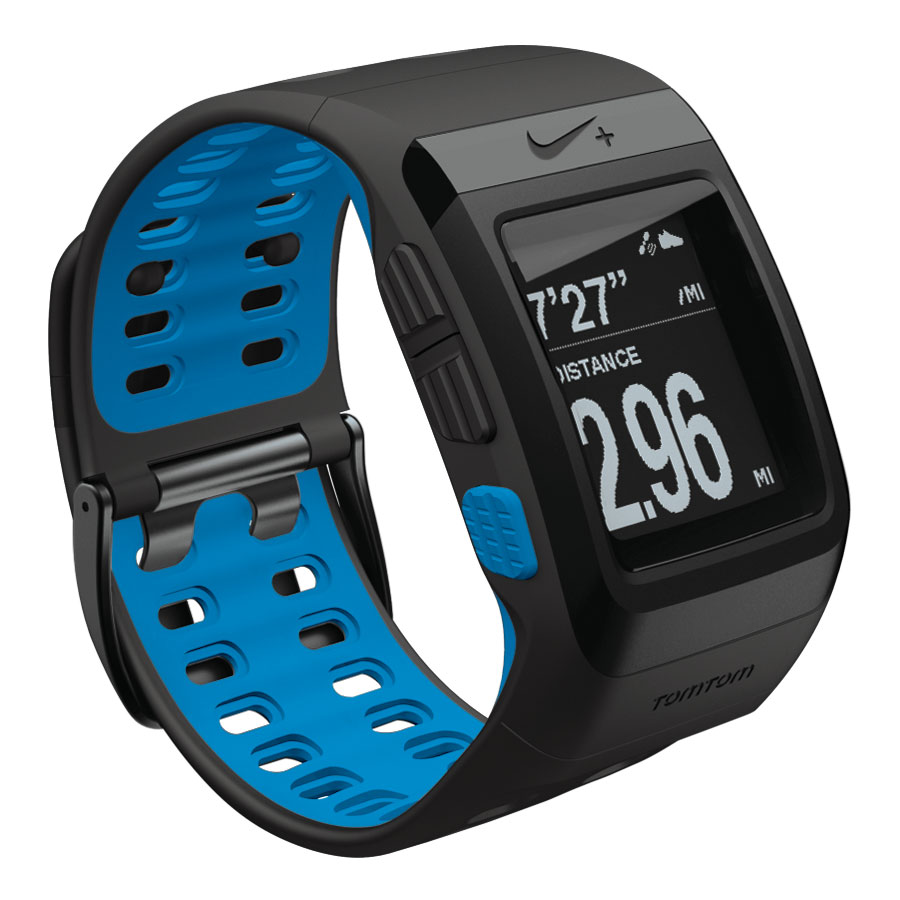 tomtom montre nike sportwatch noir bleu montre running tomtom sur. Black Bedroom Furniture Sets. Home Design Ideas