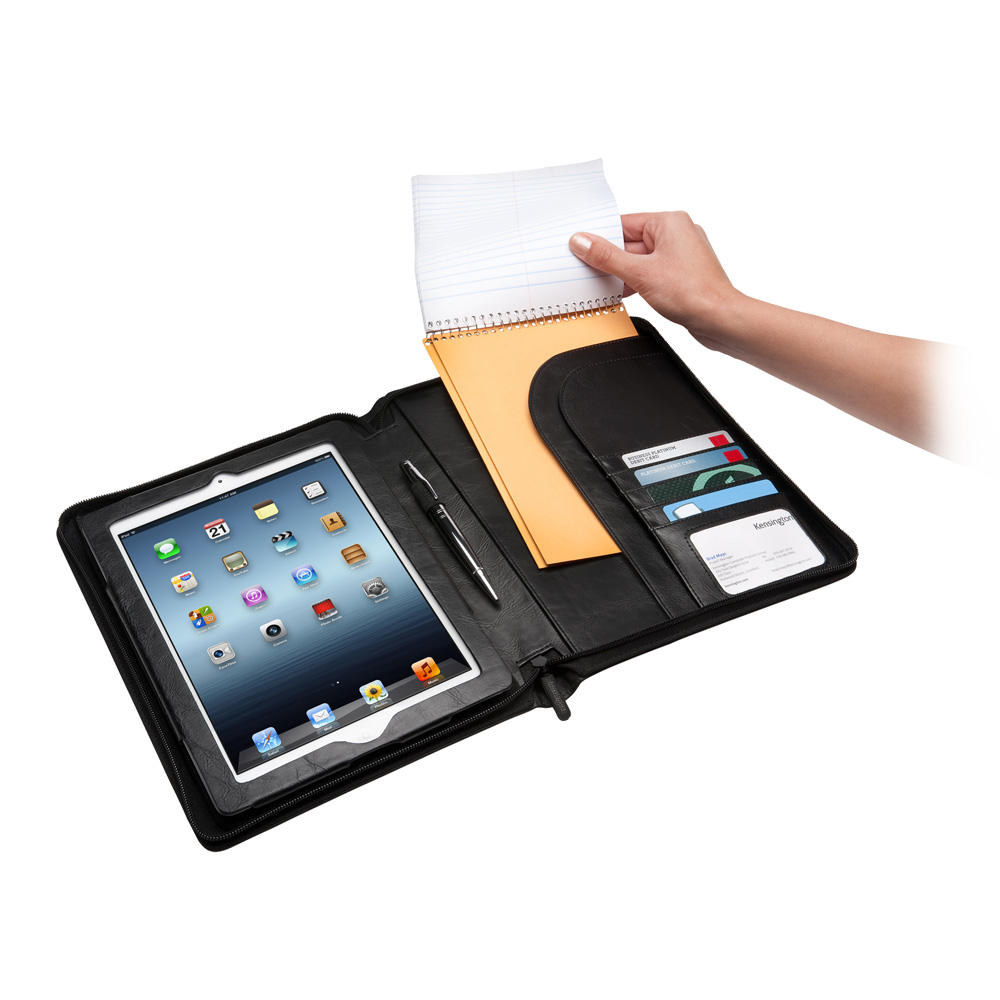 kensington folio executive mobile organiser etui tablette kensington sur. Black Bedroom Furniture Sets. Home Design Ideas