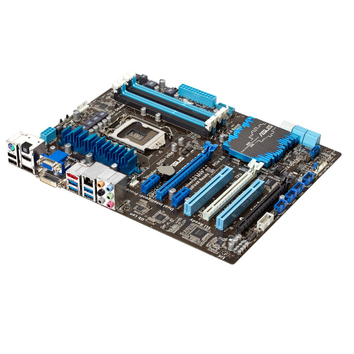 Carte mère ASUS P8Z77-V LE PLUS Carte mère ATX Socket 1155 Intel Z77 Express - SATA 6Gb/s - USB 3.0 - 2x PCI-Express 3.0 16x + 1x PCI-Express 2.0 16x