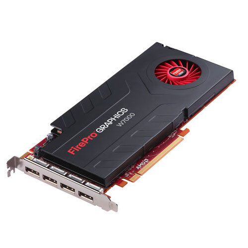 Carte graphique pro AMD FirePro W7000 4 GB 4 Go Quad DisplayPort - PCI-Express 16x