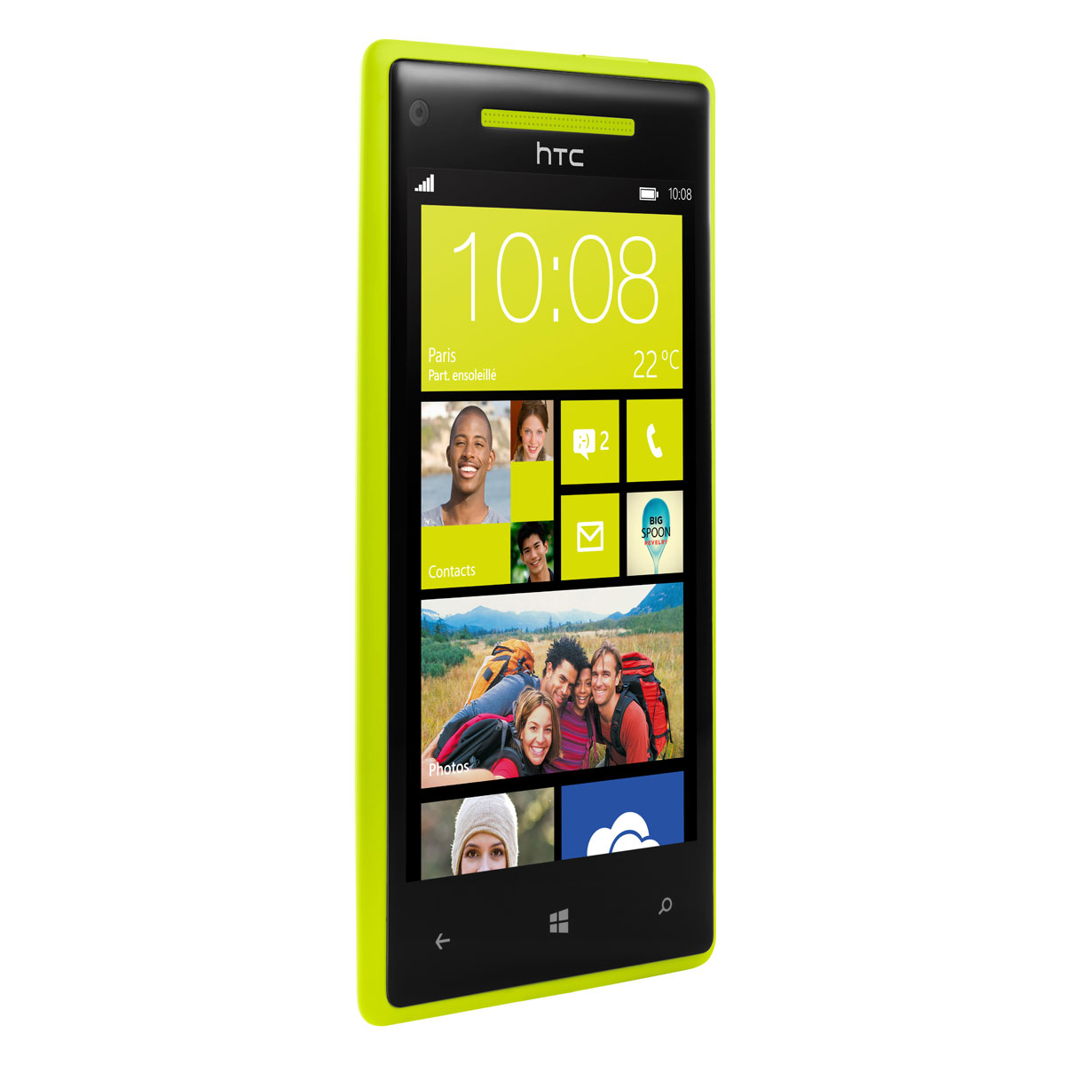 htc windows phone 8x jaune mobile smartphone htc sur. Black Bedroom Furniture Sets. Home Design Ideas