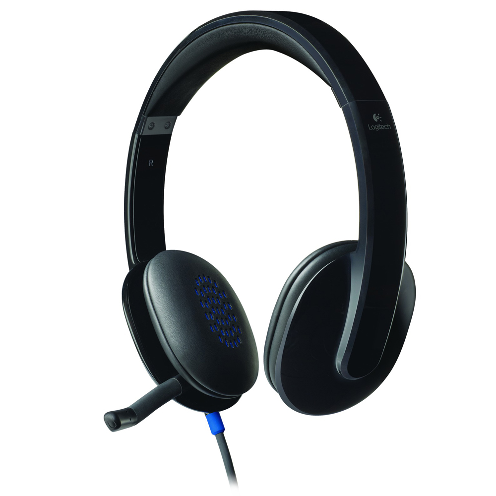 logitech usb headset h540 micro casque logitech sur. Black Bedroom Furniture Sets. Home Design Ideas