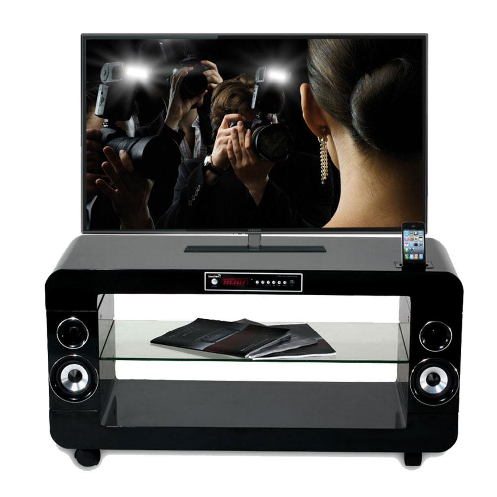 ensemble home cinma soundvision sv 200 b meuble home cinma 21 avec station d - Meuble Tv Home Cinema Integre Pas Cher