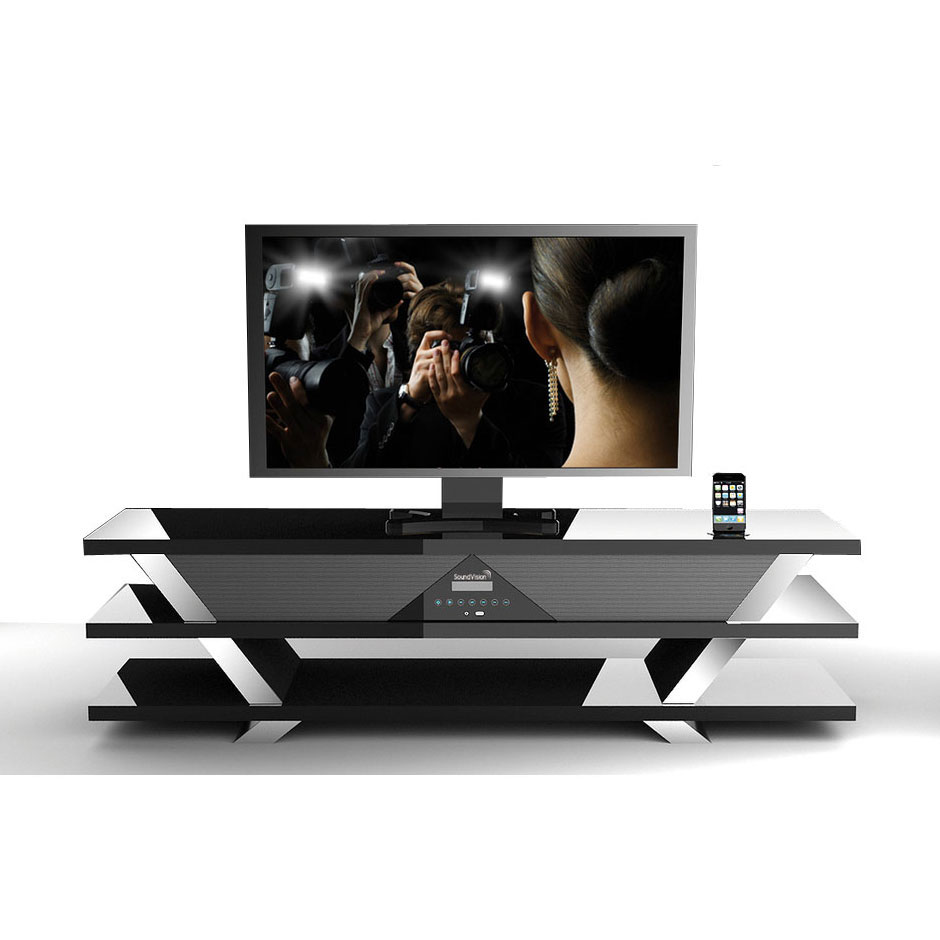 Soundvision Sv 50 Bt Noir Ensemble Home Cin Ma Soundvision Sur  # Meuble Tv Barre De Son Integree