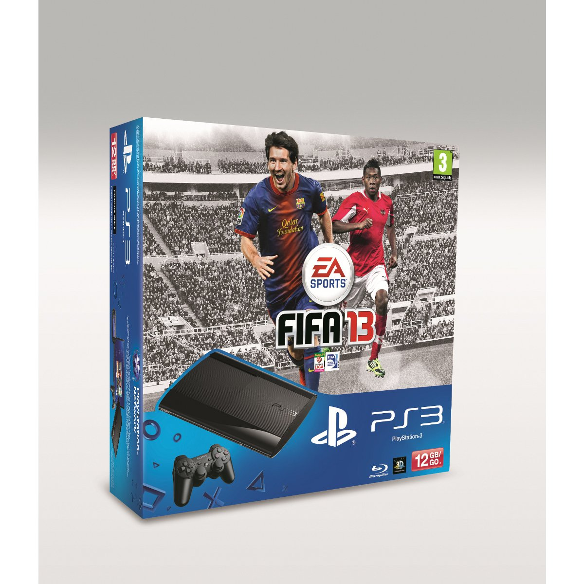 sony playstation 3 ultra slim 12 go fifa 13 pack console de jeux sony interactive. Black Bedroom Furniture Sets. Home Design Ideas