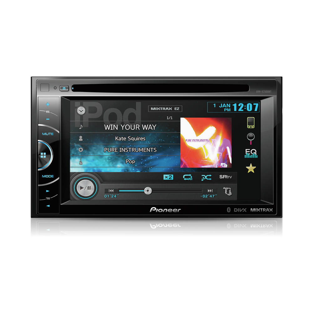 pioneer avh x2500bt autoradio pioneer sur. Black Bedroom Furniture Sets. Home Design Ideas