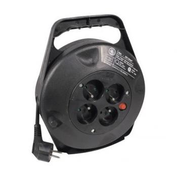 Câble Secteur Enrouleur électrique 4 prises (10 mètres) Enrouleur électrique, 10m, Noir