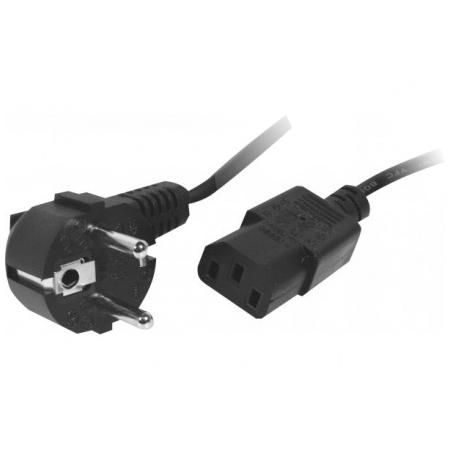 Câble Secteur Câble d'alimentation pour PC, moniteur et onduleur (0.5 m) Câble alimentation, Moins 1m, Noir