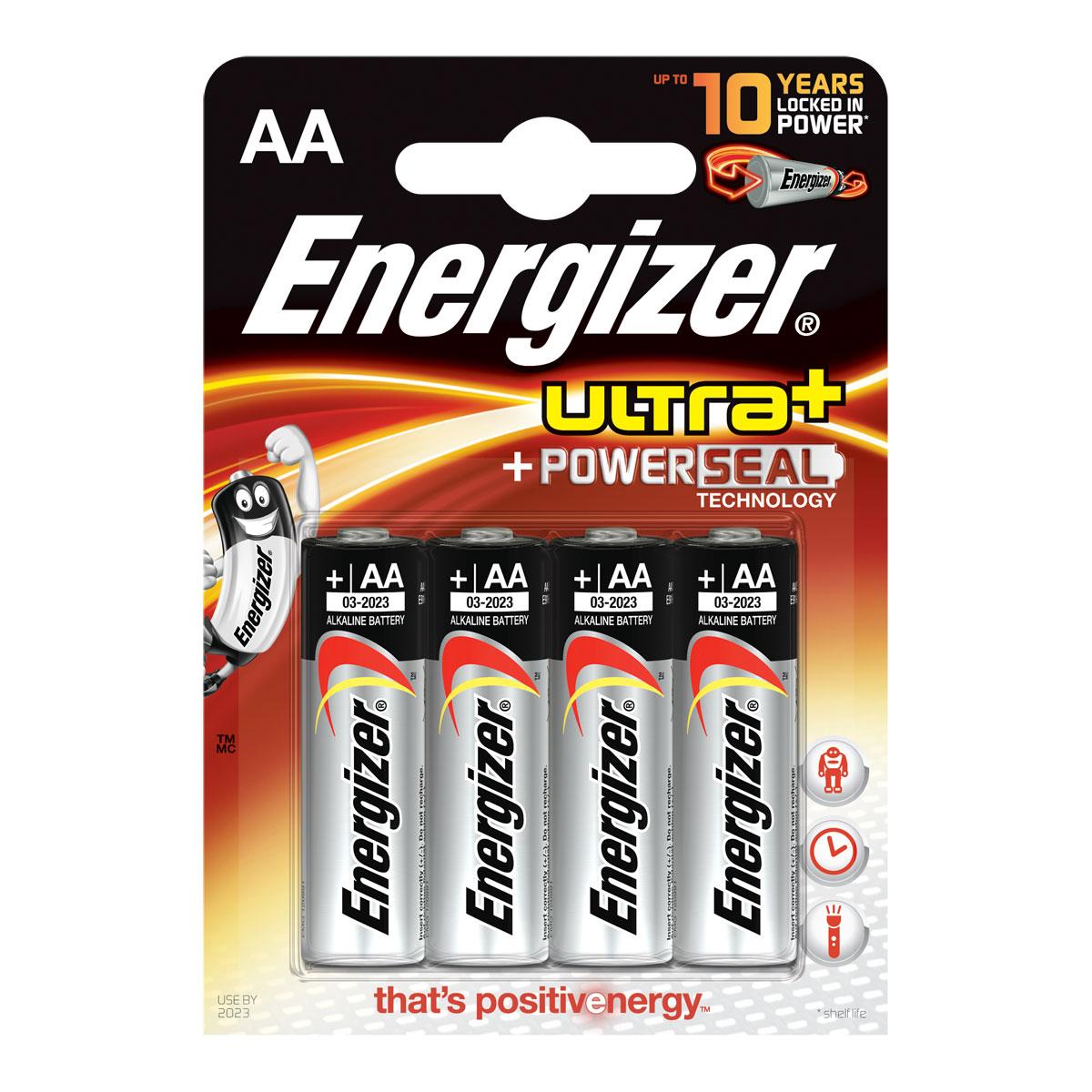 energizer ultra powerseal 4 piles aa lr6 pile chargeur energizer sur. Black Bedroom Furniture Sets. Home Design Ideas
