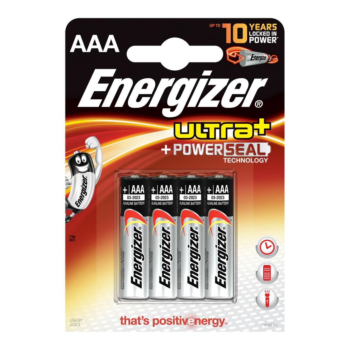 energizer ultra powerseal aaa par 4 pile chargeur energizer sur. Black Bedroom Furniture Sets. Home Design Ideas