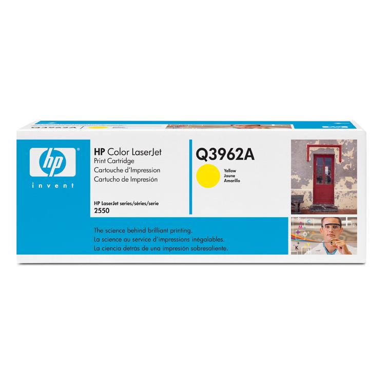 Toner imprimante HP Q3962A Toner Jaune (4 000 pages à 5%)