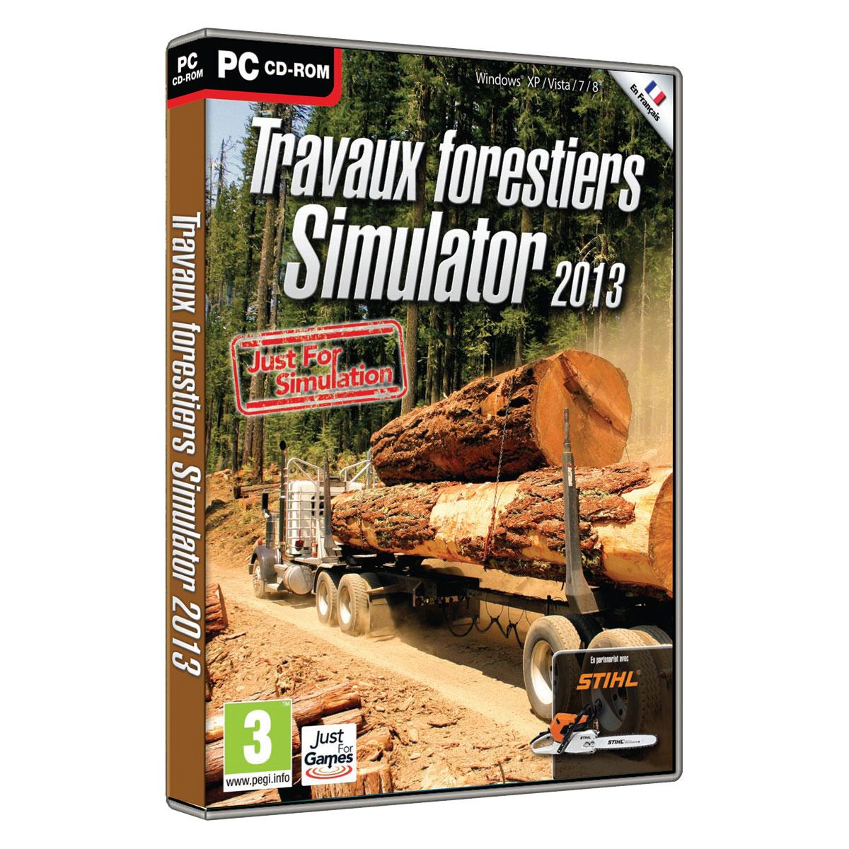 travaux forestiers simulator 2013 pc jeux pc just for games sur. Black Bedroom Furniture Sets. Home Design Ideas