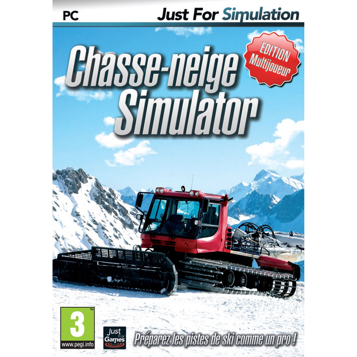 chasse neige simulator pc jeux pc just for games sur. Black Bedroom Furniture Sets. Home Design Ideas