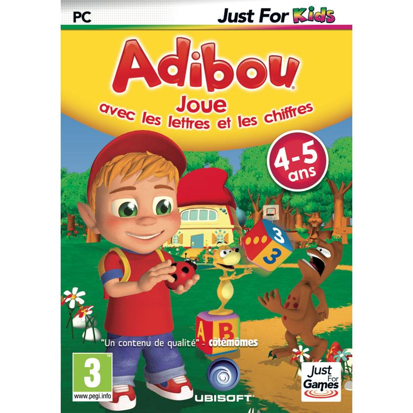 adibou 4 5 ans joue avec les chiffres et les lettres pc jeux pc just for games sur. Black Bedroom Furniture Sets. Home Design Ideas