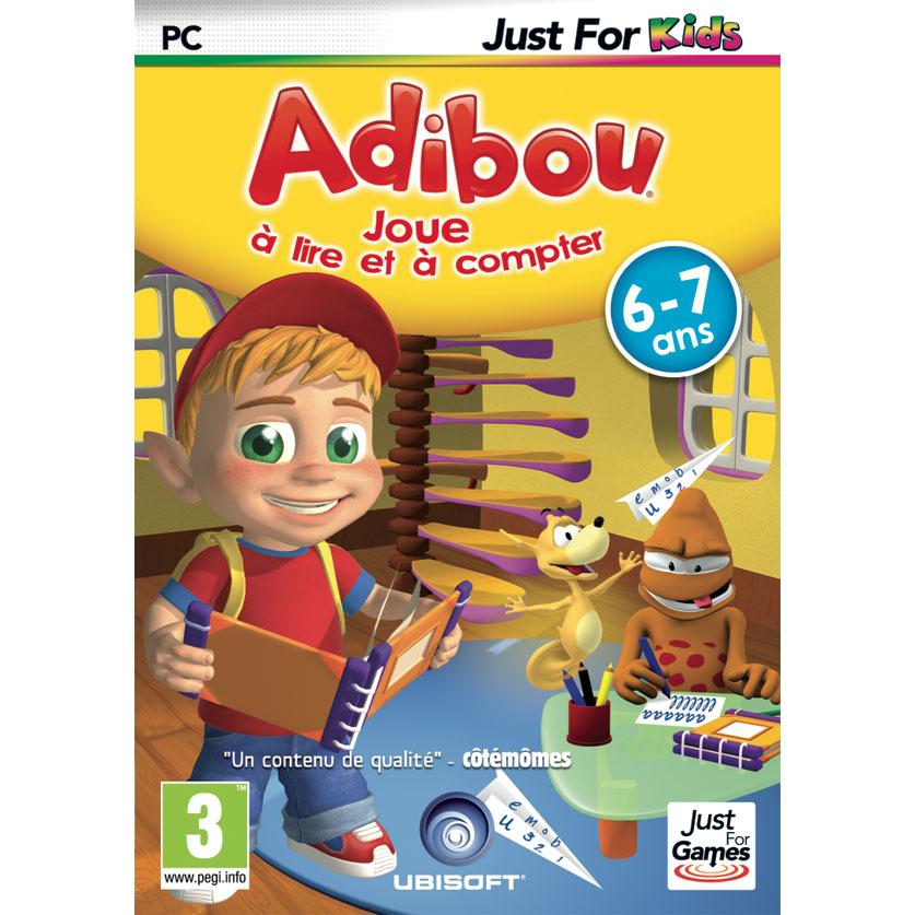 adibou 6 7 ans joue lire et compter pc jeux pc just for games sur. Black Bedroom Furniture Sets. Home Design Ideas