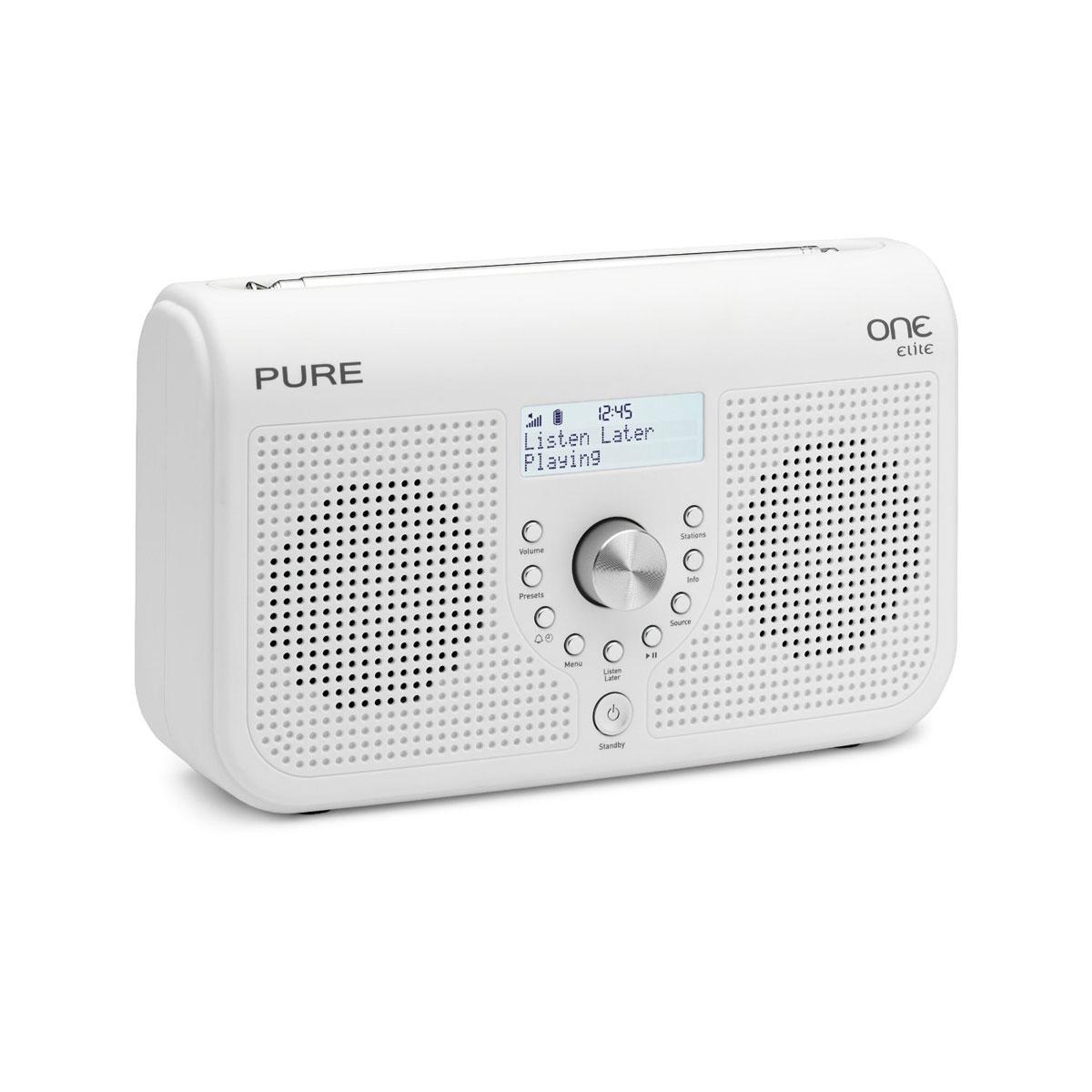 Radio & radio réveil Pure One Elite Series II Blanc Radio FM compatible RNT