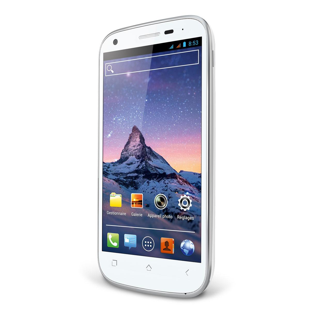 Wiko cink peax 2 blanc mobile smartphone wiko sur for Photo ecran wiko