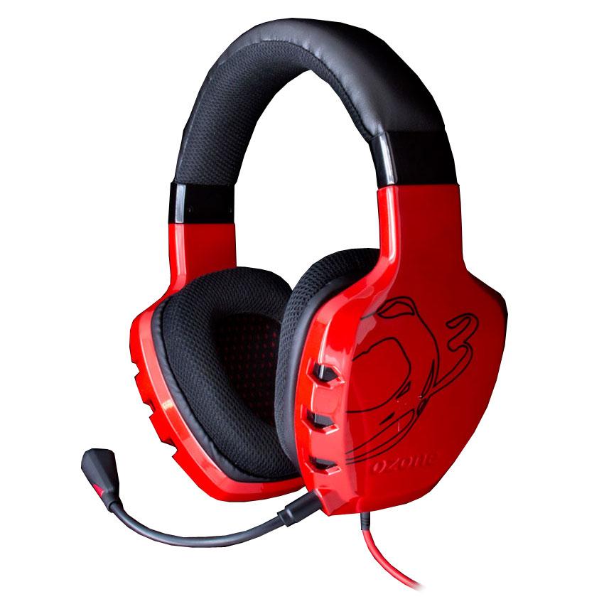Micro-casque Ozone Rage ST (rouge) Casque gaming - circum-aural fermé - son stéréo 2.0 - microphone omnidirectionnel détachable - commande de contrôle intégrée - Jack