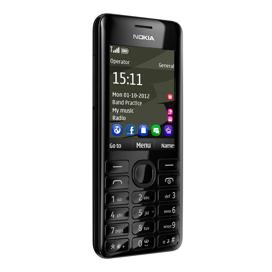 nokia 206 double sim noir mobile smartphone nokia sur. Black Bedroom Furniture Sets. Home Design Ideas
