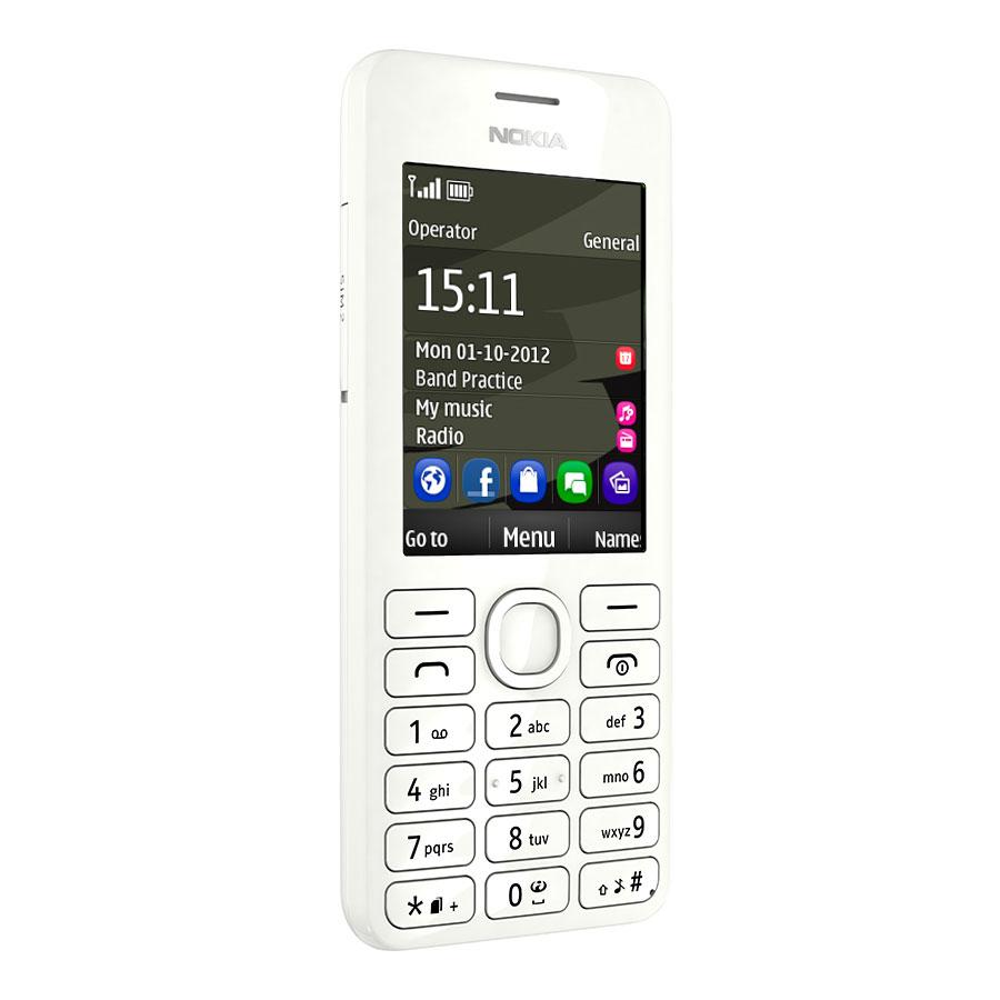 nokia 206 double sim blanc mobile smartphone nokia sur. Black Bedroom Furniture Sets. Home Design Ideas
