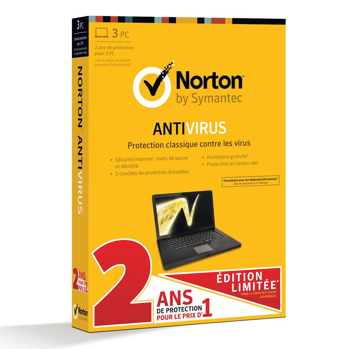 Norton Antivirus 2013 Edition Limit 233 E Licence 2 Ans 3