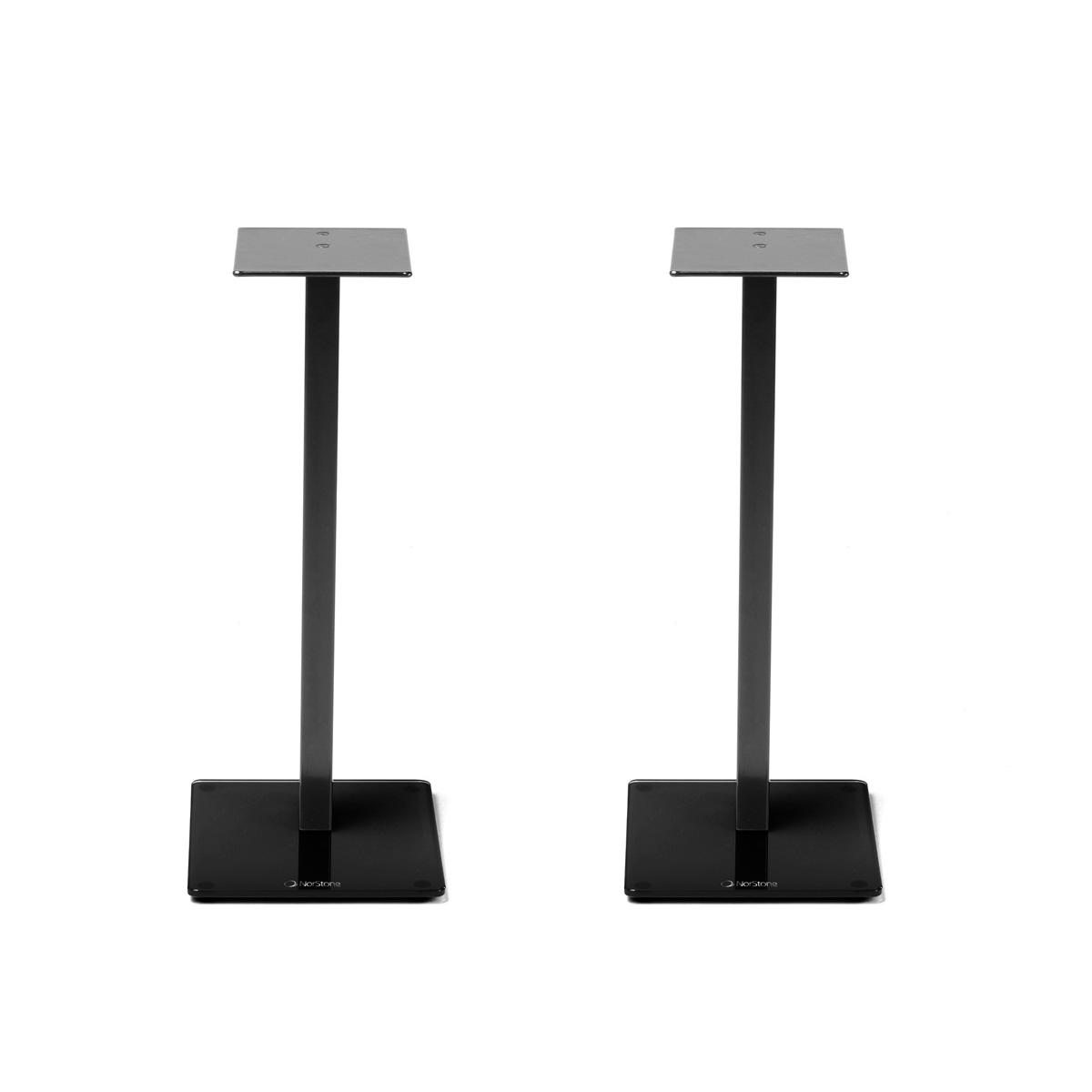 norstone esse stand noir par paire pied support enceinte norstone sur. Black Bedroom Furniture Sets. Home Design Ideas