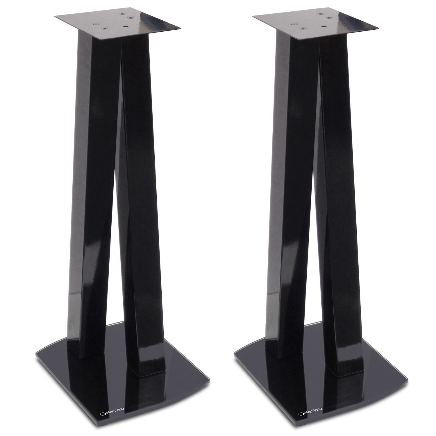 norstone walk stand noir par paire pied support enceinte norstone sur. Black Bedroom Furniture Sets. Home Design Ideas
