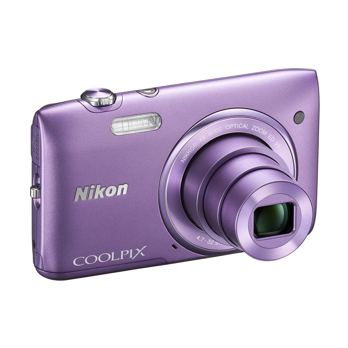 nikon coolpix s3500 violet appareil photo num rique nikon sur. Black Bedroom Furniture Sets. Home Design Ideas
