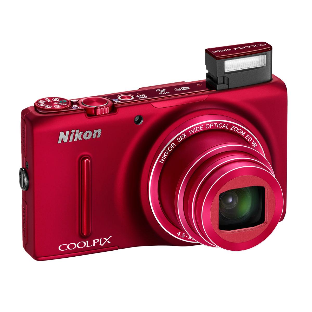 nikon coolpix s9500 rouge appareil photo num rique nikon sur. Black Bedroom Furniture Sets. Home Design Ideas