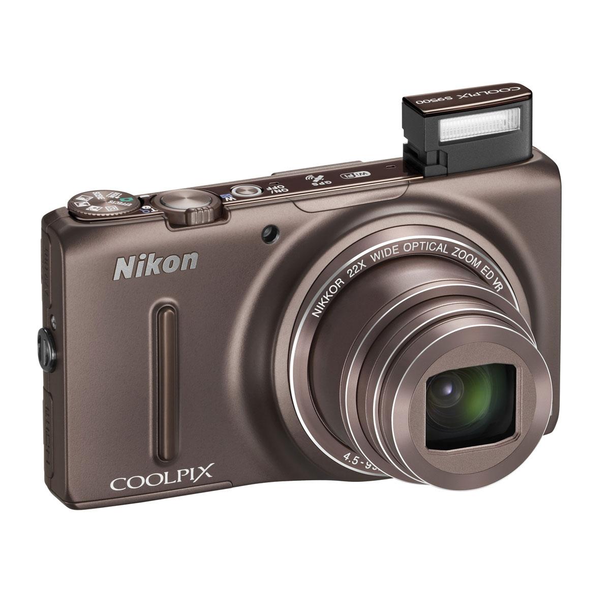 nikon coolpix s9500 marron appareil photo num rique nikon sur. Black Bedroom Furniture Sets. Home Design Ideas
