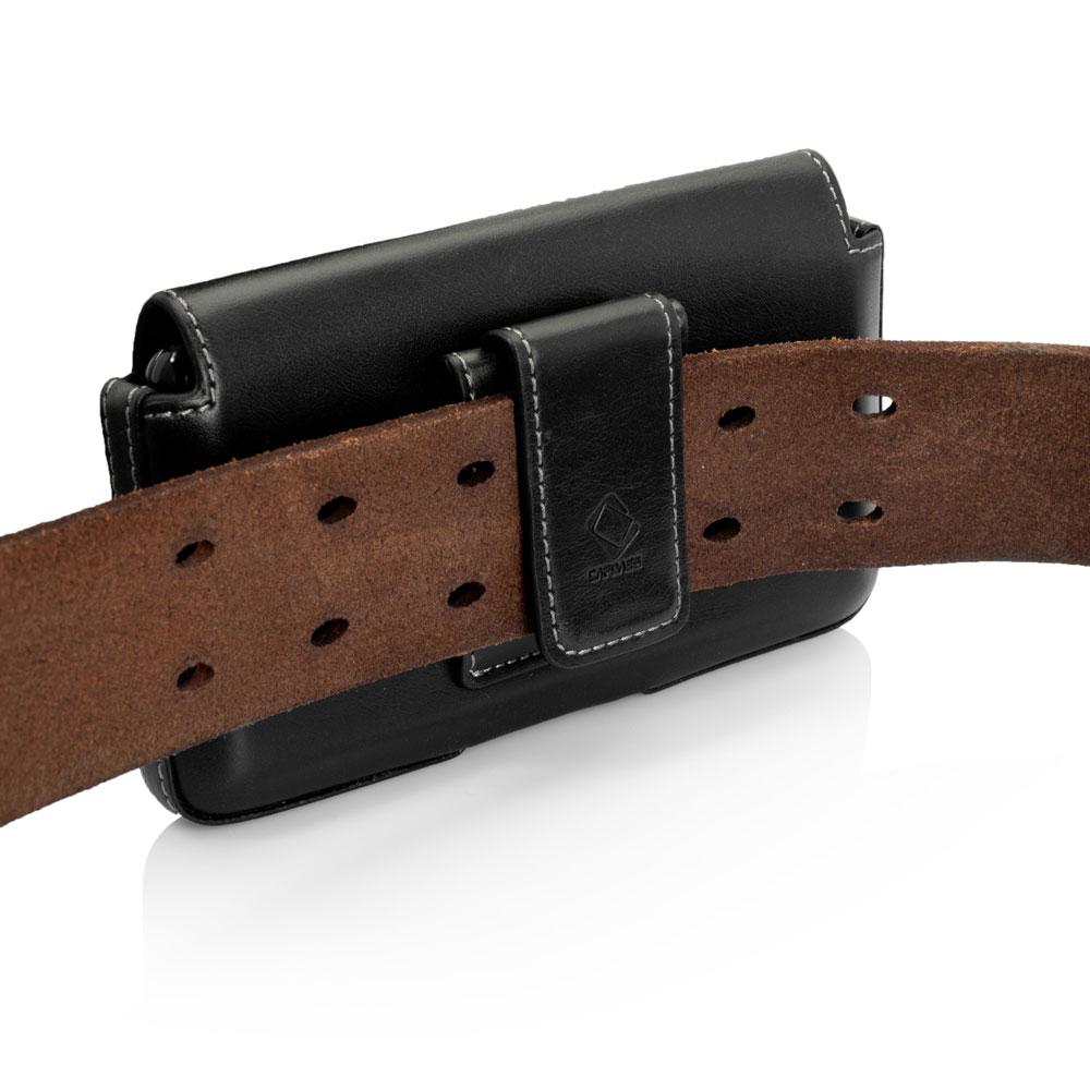 f20dd9dbf91a Capdase Klip Holster Noir Apple iPhone 5 5s Etui avec clip ceinture en cuir  véritable pour Apple iPhone 5 5s