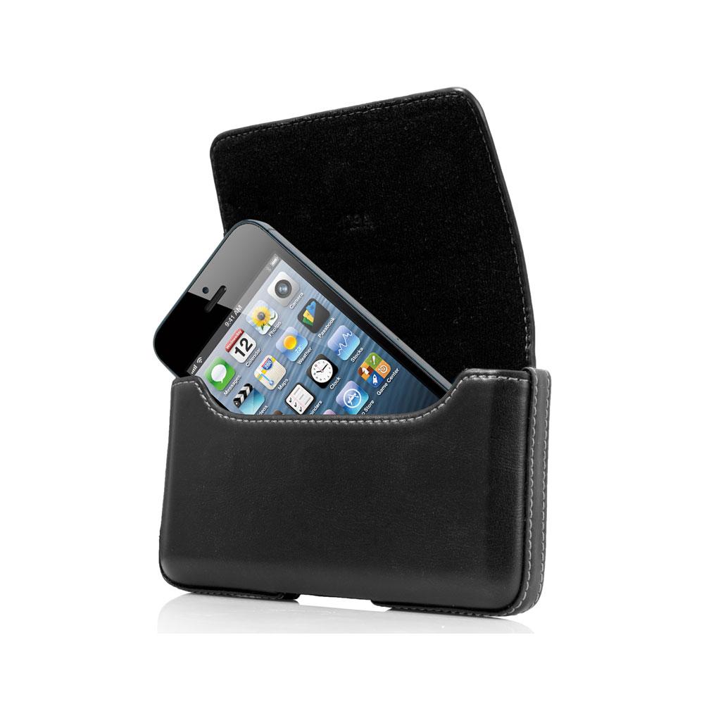 ccc5b4157c1f8c Capdase Klip Holster Noir Apple iPhone 5 5s Etui avec clip ceinture en cuir  véritable pour Apple iPhone 5 5s