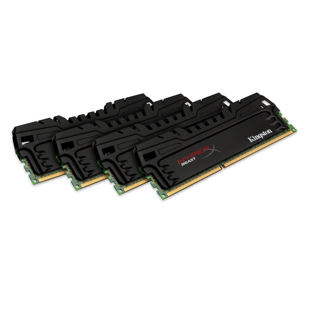 Mémoire PC HyperX Beast 32 Go (4 x 8 Go) DDR3 1866 MHz CL10 Kit Quad Channel DDR3 PC3-14900 - KHX18C10AT3K4/32X (garantie à vie par Kingston)