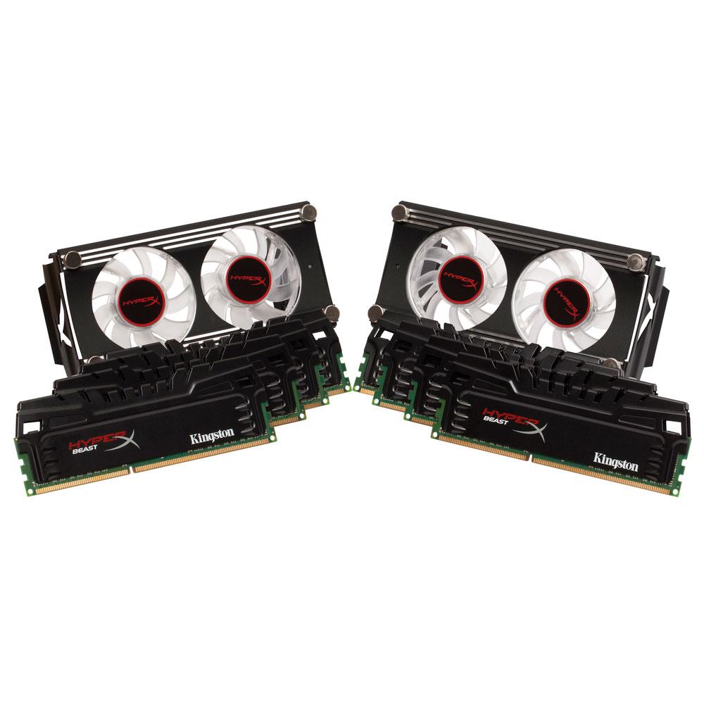 Mémoire PC Kingston HyperX Beast 64 Go (8 x 8 Go) DDR3 2133 MHz CL11 Kit Quad Channel DDR3 PC3-17066 - KHX21C11T3FK8/64X (garantie à vie par Kingston)