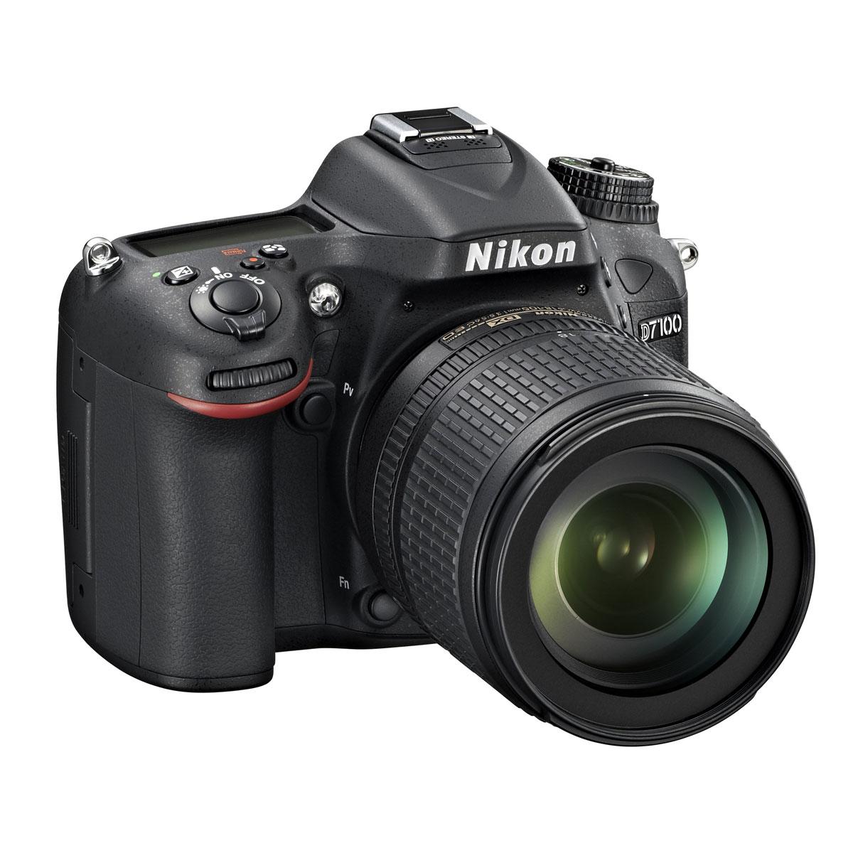 """Appareil photo Reflex Nikon D7100 + Objectif VR 18-105 mm Réflex Numérique 24.1 MP - Ecran 3.2"""" - Vidéo Full HD + Objectif AF-S DX NIKKOR 18-105 mm f/3.5-5.6G ED VR"""