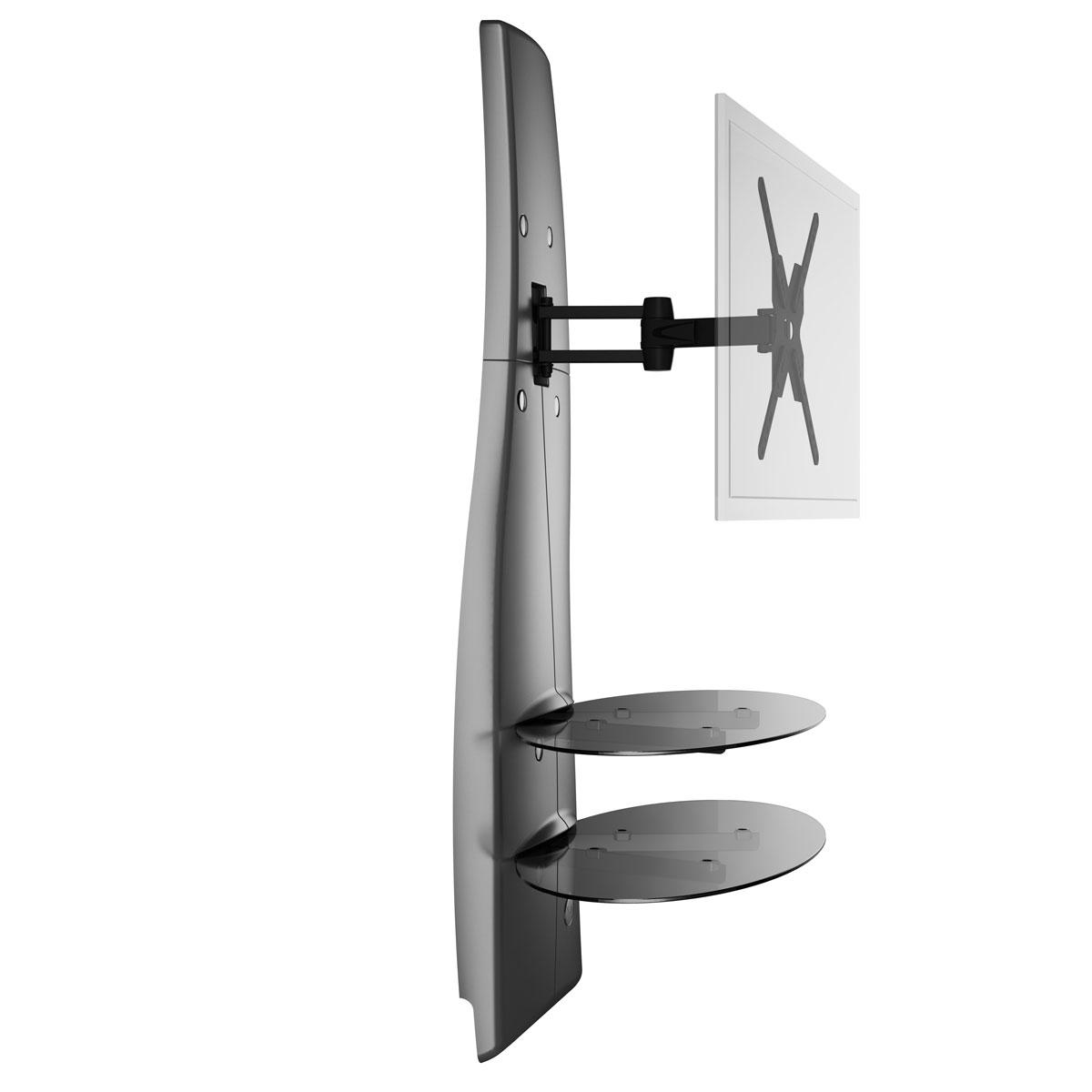 Meliconi Ghost Design 2000 Rotation Blanc Meuble Tv Meliconi Sur  # Meuble Tv Support Ecran Plat