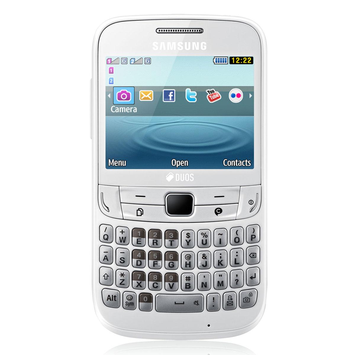 samsung ch t 357 gt s3570 blanc mobile smartphone samsung sur. Black Bedroom Furniture Sets. Home Design Ideas