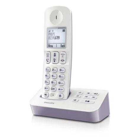 Téléphone sans fil Philips D4051 Solo Lavande Téléphone DECT sans fil avec répondeur (version française)