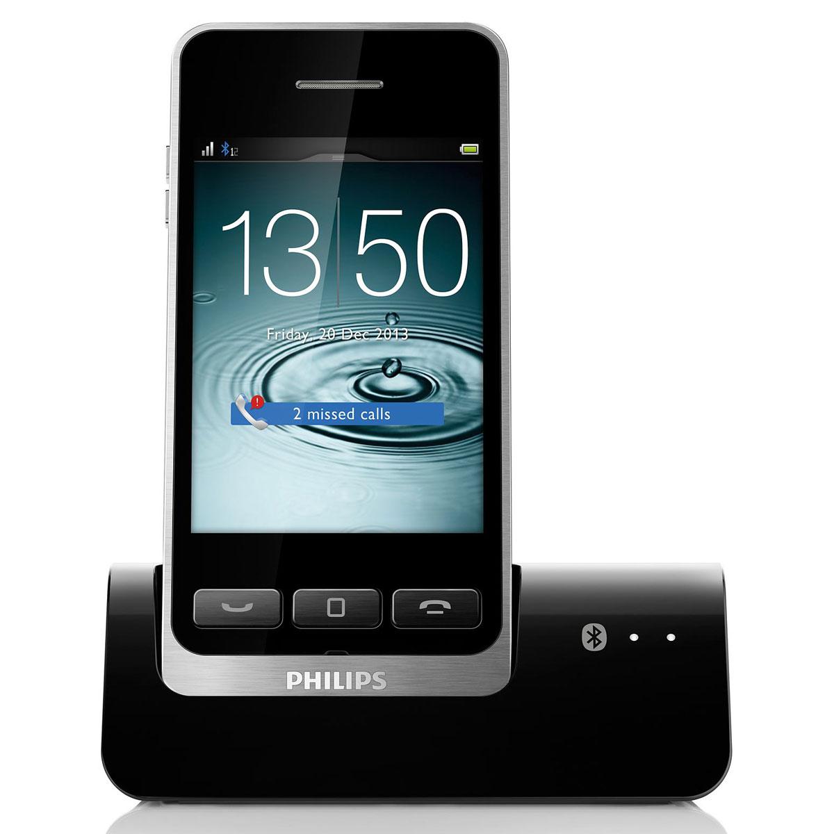 Philips s10 t l phone sans fil philips sur - Telephone fixe avec prise jack ...