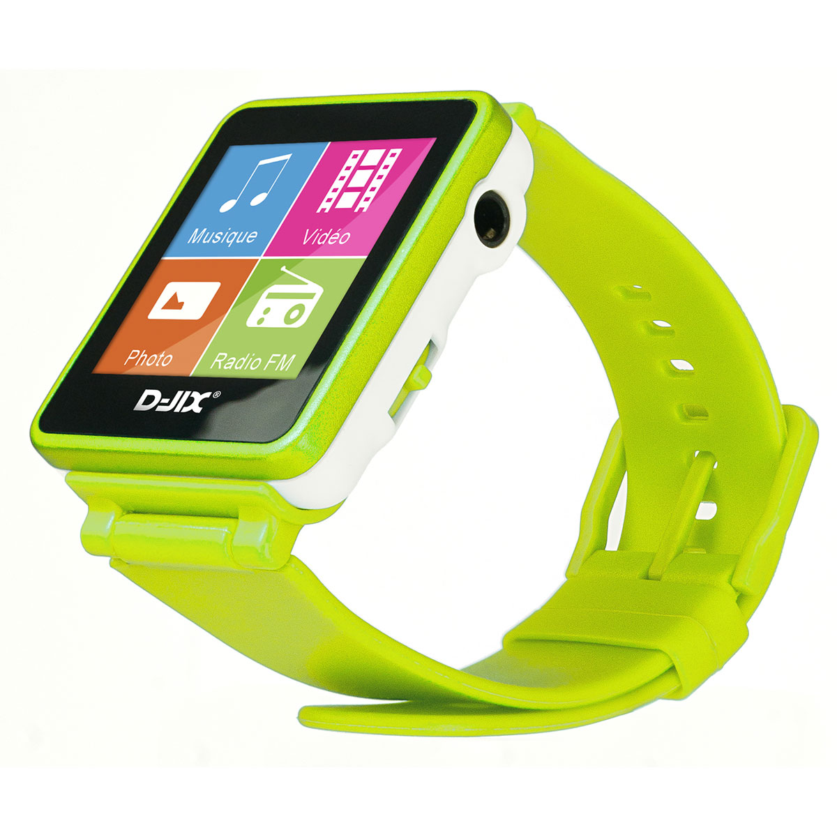 d jix d watch vert 4 go lecteur mp3 ipod d jix sur. Black Bedroom Furniture Sets. Home Design Ideas