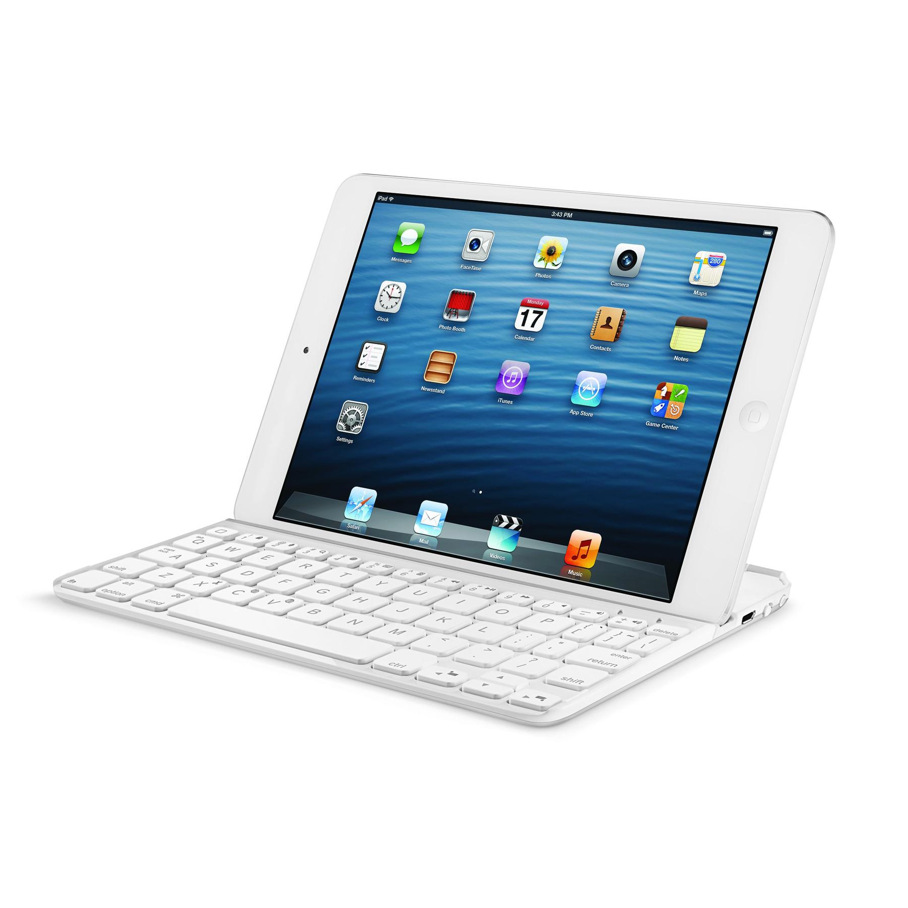 logitech ultrathin keyboard mini blanc etui tablette. Black Bedroom Furniture Sets. Home Design Ideas