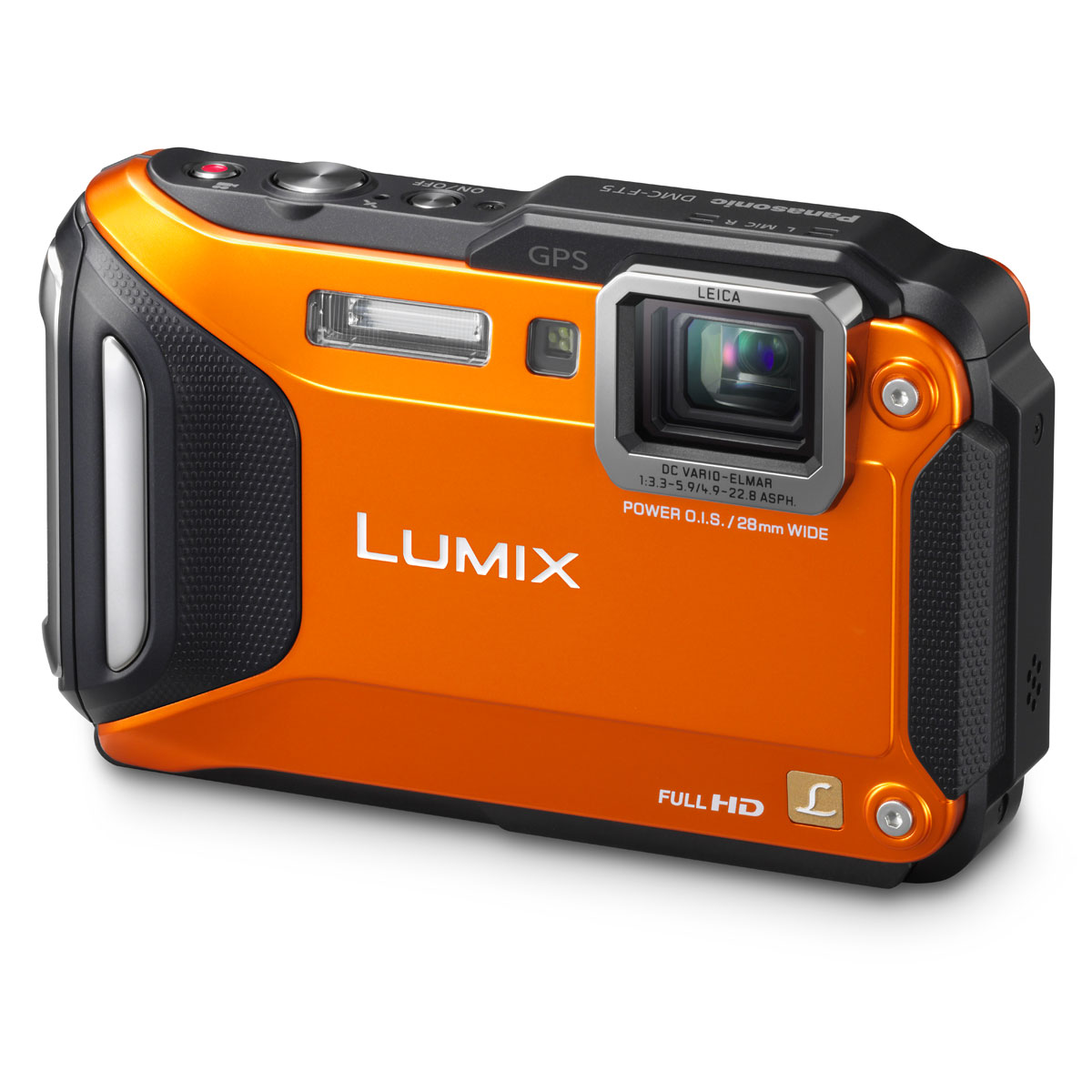 Appareil photo numérique Panasonic DMC-FT5 Orange Appareil photo 16.1 MP - Zoom 4.6x - Vidéo Full HD - Wi-Fi
