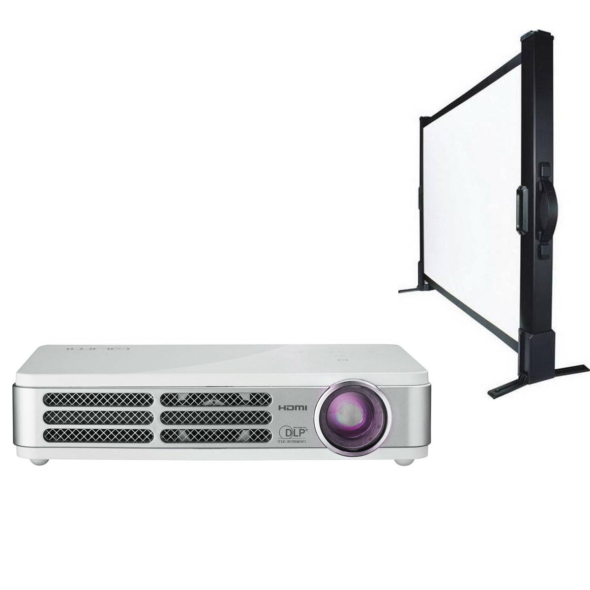 Vivitek qumi q2 light blanc ldlc ecran de table 81 x 61 - Meuble ecran videoprojecteur ...