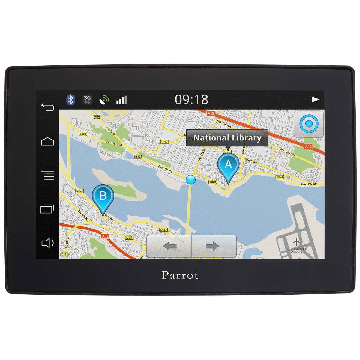 parrot asteroid tablet kit main libre parrot sur. Black Bedroom Furniture Sets. Home Design Ideas