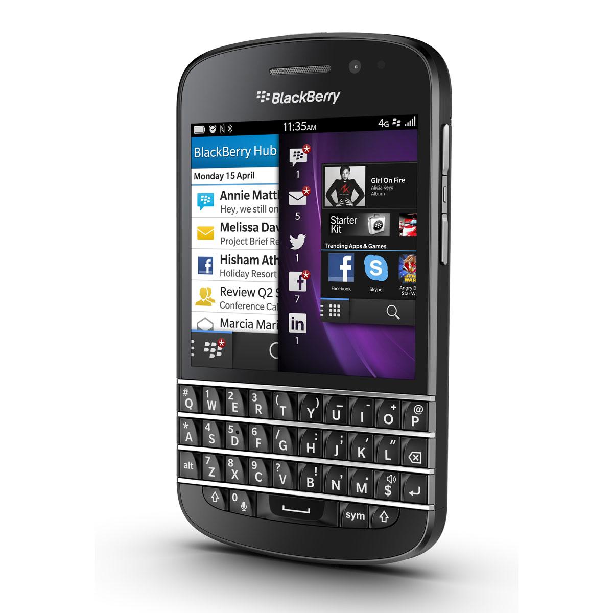 blackberry q10 noir mobile smartphone blackberry sur. Black Bedroom Furniture Sets. Home Design Ideas