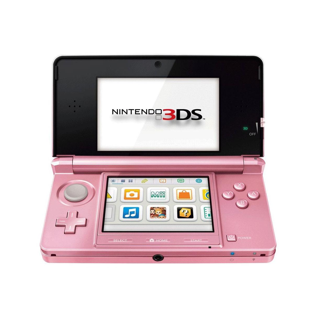 Nintendo 3ds rose console nintendo 3ds nintendo sur - Console de jeux portable tactile ...